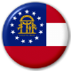Georgia State Flag 25mm Pin Button Badge